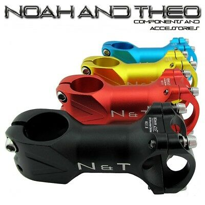 N&T Bicycle 80mm Stem 28.6mm Or 1-1/8  To 31.8mm Cycling Road Handlebar MTB • 13.99£