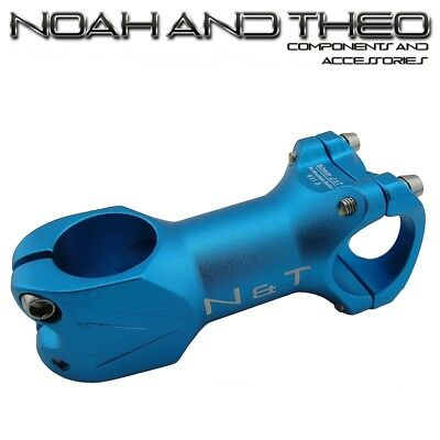 N&T Bicycle 80mm Stem 28.6mm Or 1-1/8  To 31.8mm Cycling Road Handlebar MTB BLUE • 12.98£