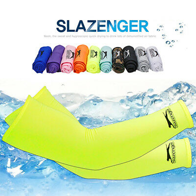 Slazenger UV Protected Compression Outdoor Sports Cycling Thermal Arm Warmers • 4.79£