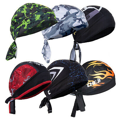 Men Do Durag Bandana Scarf Head Tie Down Band Cycling Biker Skull Cap Pirate Hat • 7.99£