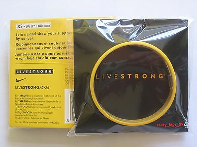 Genuine LIVESTRONG Wristband - Lance Armstrong - Yellow - YOUTH SIZED (XS-M) • 2£