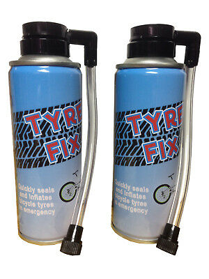 2 X 200ml Instant Bicycle Cycle Bike Puncture Repair Tyre Fix Sealant & Inflates • 5.75£