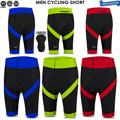 Mens Cycling Shorts Bicycle Padded 3D Anti-Bac Stretchy Lightweight Cycle Short • 9.99£
