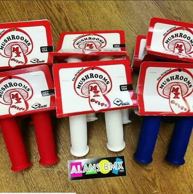 ODI Mushroom Coloured Old School BMX Grips Black Blue Red White Burner • 19.99£