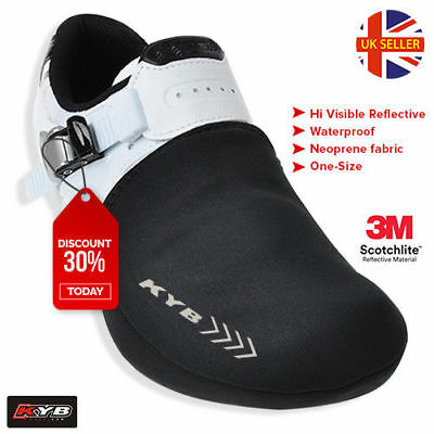 High Visible Thermal Cycling Shoe Toe Cover Protector Overshoe Cycle Bike Warmer • 5.95£