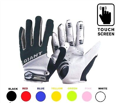 GIANT New Touch Screen Cycling Gloves MTB BMX Bicycle Bike Full Finger Cycle UK • 8.95£