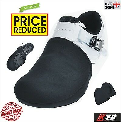 BLACK Waterproof Thermal Cycling Shoe Toe Cover Protector Overshoes Cycle Warmer • 4.95£