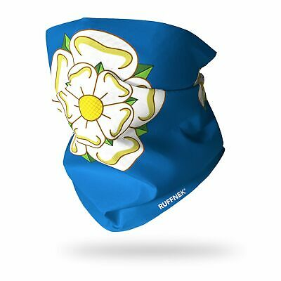 RUFFNEK® Yorkshire Rose Flag - Tube Scarf/ Face Mask - FREE P&P • 12.85£