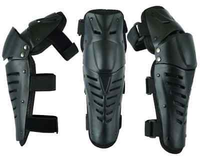 MX Motorcycle Motocross Hinged Knee Shin Pads Guard Protective Gear Body Armour • 22.80£