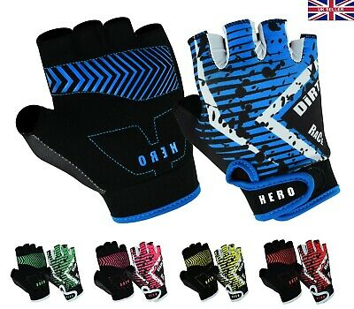 New Junior Kids Cycle Cycling Gloves Boys Girls Bike Bicycle Scooty Sports Mitts • 6.95£