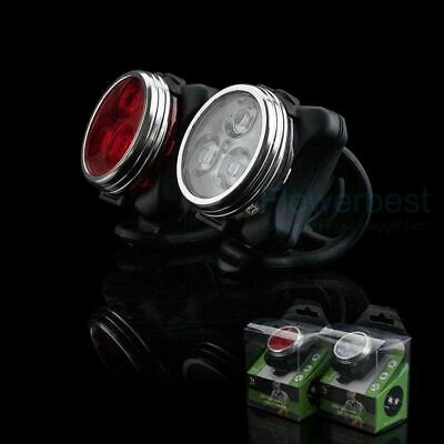 Rechargeable Bright LED Bike Lights Set - Headlight Taillight Combinations LED • 3.80£
