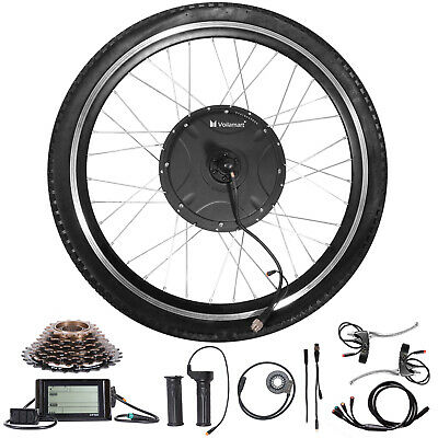 1500W Electric Bicycle Conversion Kit 26 Rear Wheel Twist Throttle LCD Meter 48V • 269.99£