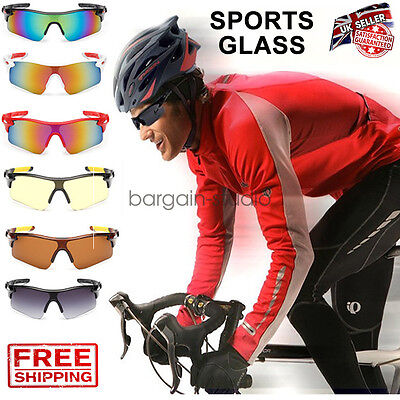 Outdoor Sports Cycling Bike Running Sunglasses UV400 Lens Goggle Glasses Eyewear • 4.95£