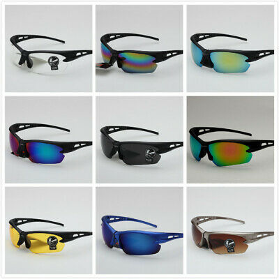 Anti-Shock Outdoor Cycling Sunglasses Biking Running Fishing Golf Sports Glasses • 4.19£