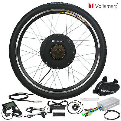Voilamart 1000W Electric Bicycle Conversion Kit Rear Wheel EBike LCD Meter 26  • 241.99£
