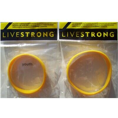 Lance Armstrong Livestrong Yellow Wristband New Youth & Adult • 1.49£