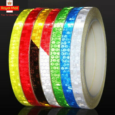 USUN 8M Reflective Tape Fluorescent Bike Bicycle Car Safety Reflective Stickers • 2.49£