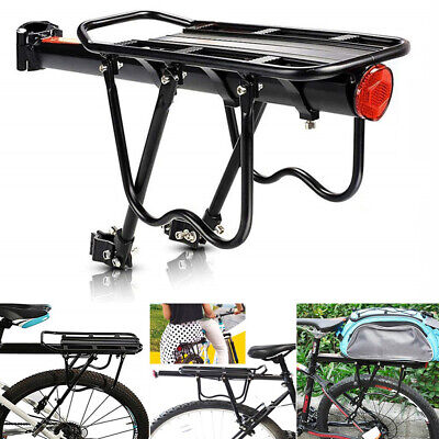 Alloy Cycling MTB Bike Bicycle Cycle Pannier Rear Rack Carrier Bracket Reflector • 15.99£