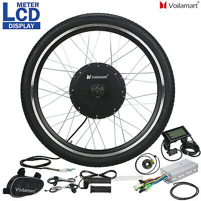 48V 1000W Electric Bicycle EBike Motor Conversion Kit Front Wheel 26  LCD Meter • 178.99£
