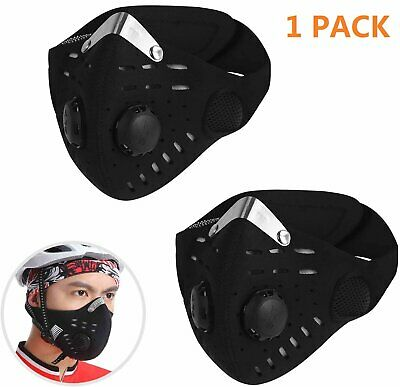 Washable Face Mask Anti-Haze Sports Air Purifying Face Mouth Cycling Outdoor UK • 12.20£