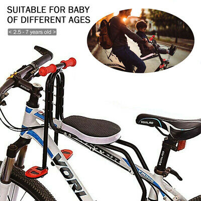 Safety Child Baby Kids Bike Bicycle Cycle Seat Front Carrier With Handrail • 42.59£
