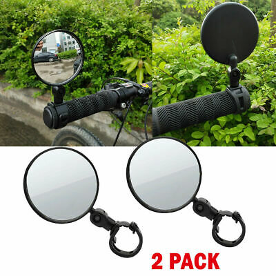 1 Pair Universal Bike Rear View Mirror Adjustable Flexible Safety Durable Useful • 8.68£
