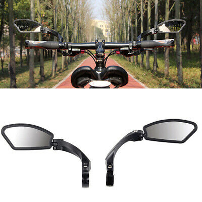 Bicycle Bike Cycling Handlebar Rear View Rearview Mirror Rectangle Back UK New • 13.79£