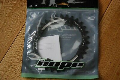 Hope Oval 32T Chain Ring - Black • 11.70£