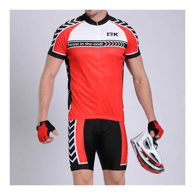 17K Rosso Mens Cycling Jersey And Shorts Set • 40£