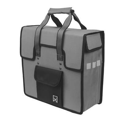 Willex Bicycle Bike Rear Pannier Storage Commuter Bag 18 L Grey And Black 10106 • 30.74£