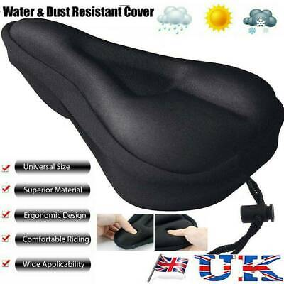 Bike  Gel Pad Comfy Cushion Saddle Seat Cover Bicycle Cycle UK POST • 4.69£