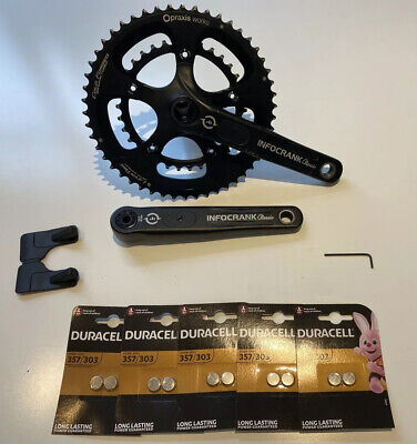 Infocrank 130 BCD 24mm 172.5mm Classic Power Meter And Praxis Chainrings 50/34 • 250£