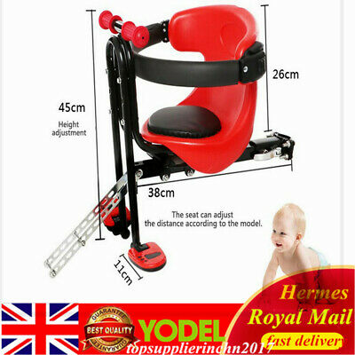 Bicycle Front Seat Safety Stable Baby Child Kids Chair Seat With Pedal For Bike • 11£