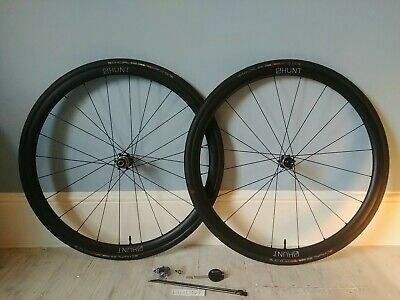 HUNT 700c CARBON CLINCHER AERO 30 DISC BRAKE WHEELSET AND TUBELESS TYRES • 10.50£
