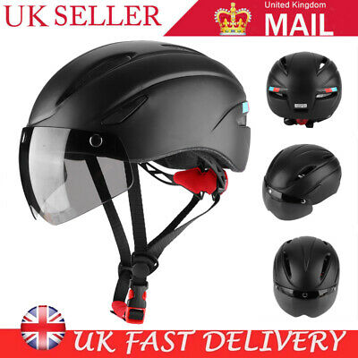 Bike Helmet Adjustable Safety Cycling Helmet With Light & Goggles Outdoor Sport • 18.69£