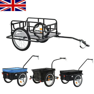 Bike Cargo Trailer Steel Hand Wagon Bicycle Cycling Camping Luggage Tool Carrier • 70.57£