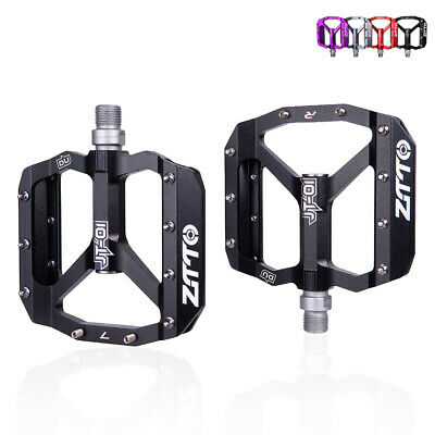 Bike Metal Alloy Flat Platform Pedals For MTB Road Mountain Bicycle BMX Cycling • 22.93£