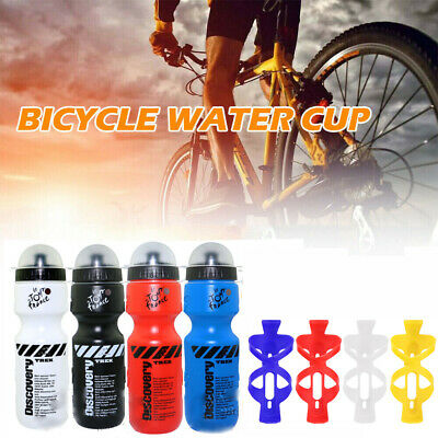 Mountain Bike Bicycle Cycling Water Drink Bottle And Holder Cage 650ML UK Hot! • 4.79£