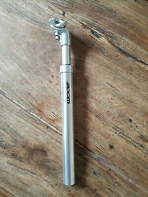 ZOOM Aluminum Bicycle Suspension Seatpost Silver Size 27.2 • 10.50£