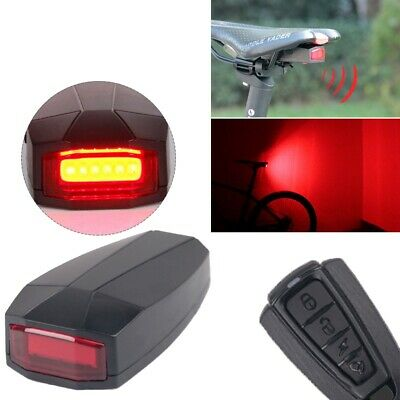 Bicycle Bike Security Lock Alarm LED Tail Light Anti-theft Remote Control 4 In 1 • 14.99£