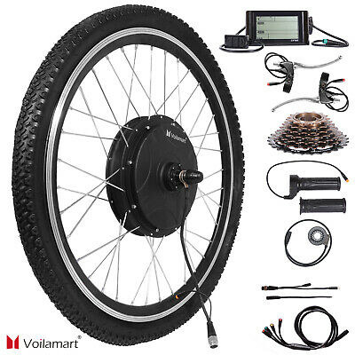 1500W Electric Bicycle Conversion Kit 26 Rear Wheel Twist Throttle LCD Meter 48V • 217.99£