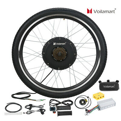 Voilamart 1500W 48V Electric Bicycle Conversion Kit EBike Rear Wheel 26  Cycling • 199.99£