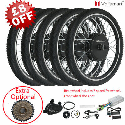 Voilamart 250 500 1000W 26  Electric Bicycle Bike Conversions Front Rear Wheel • 229.99£