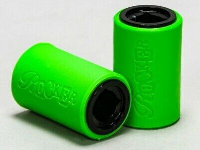 Rocker Mini Rocker BMX 12mm Stunt Pegs Bright Green Black Free Delivery • 29.99£