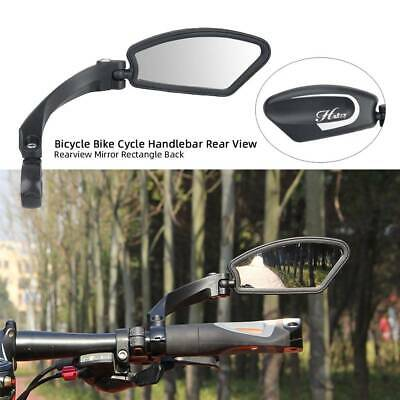 Bicycle Bike Cycling Handlebar Rear View Rearview Mirror Rectangle Back Right UK • 12.82£