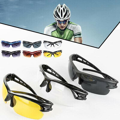 Anti-Shock Outdoor Sunglasses UV400 Cycling Running  Fishing Golf Sport Glasses • 3.19£