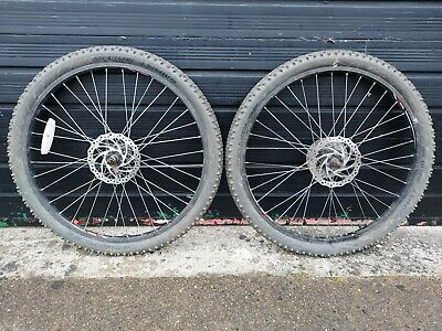 26  Black MTB Wheelset 7 Speed Complete With Schwalbe Tyres Fitted - Used • 10£