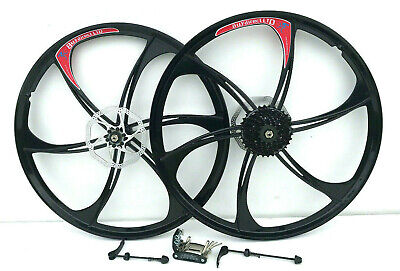 26 Inch Magnesium Alloy Bike Wheels Front & Rear 8, 9 Or 10 Speed Mountain Bike  • 84.99£