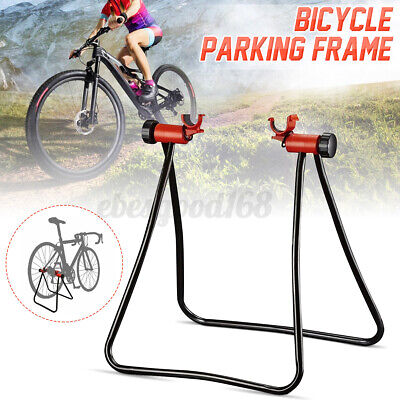 Folding Bicycle Trainer Stationary Bike Cycle Stand Exercise Training Mount Rack • 11.99£