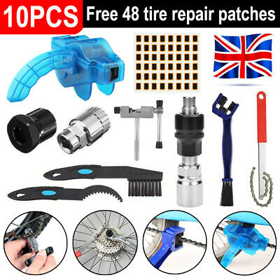 10PCS Mountain Bicycle Bike Removal Repair Tools Set Crank Chain Axis Extractor • 10.49£